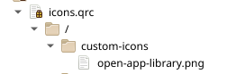 QRC file structure for custom icons